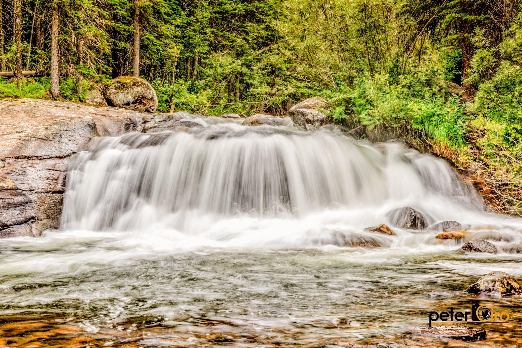 Allenspark CO Waterfall Finch Lake