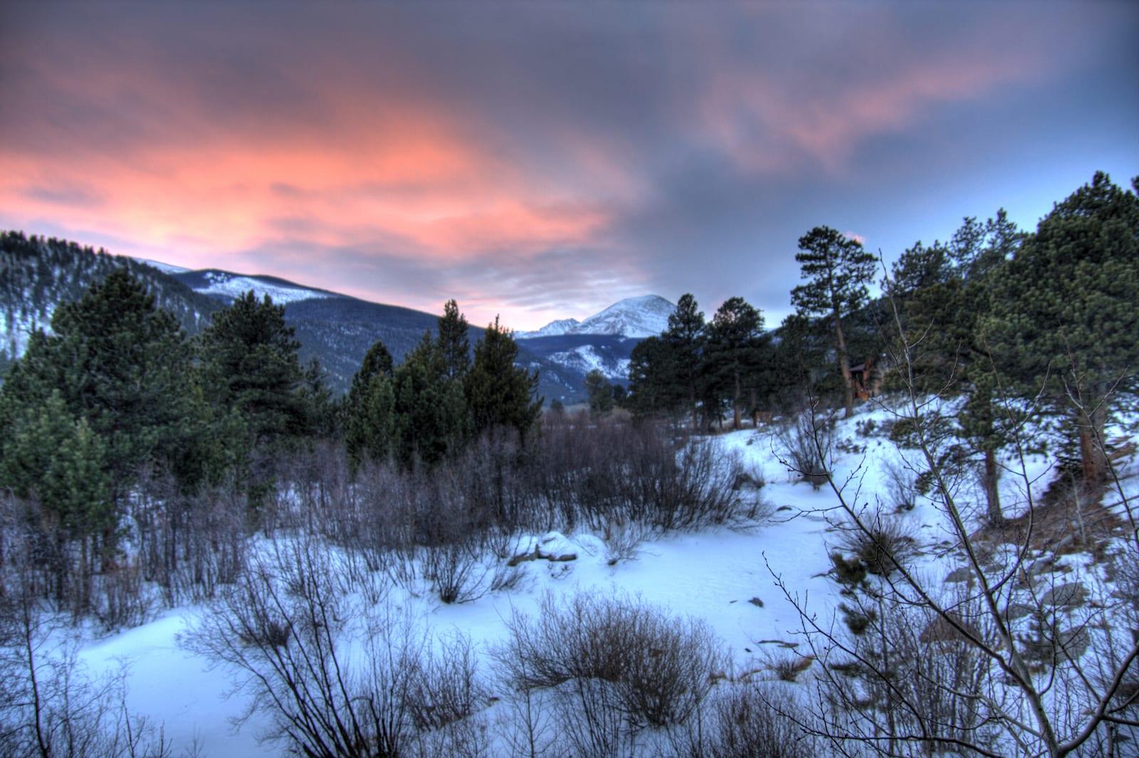 Allenspark CO Winter Sunset