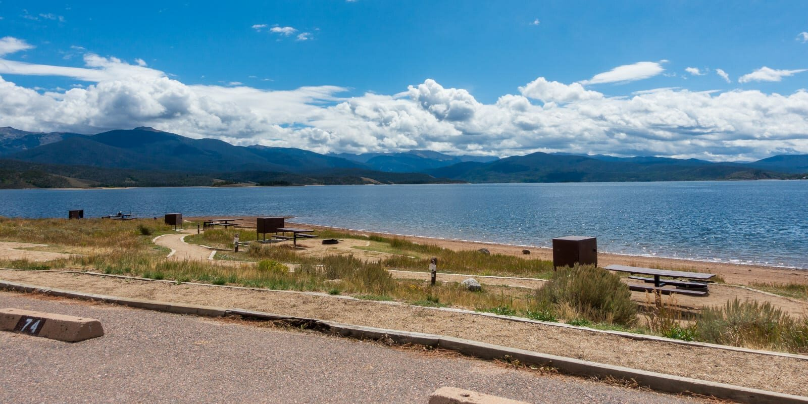 Lake Granby Lakeside Campsites Arapaho National Recreation Area Colorado