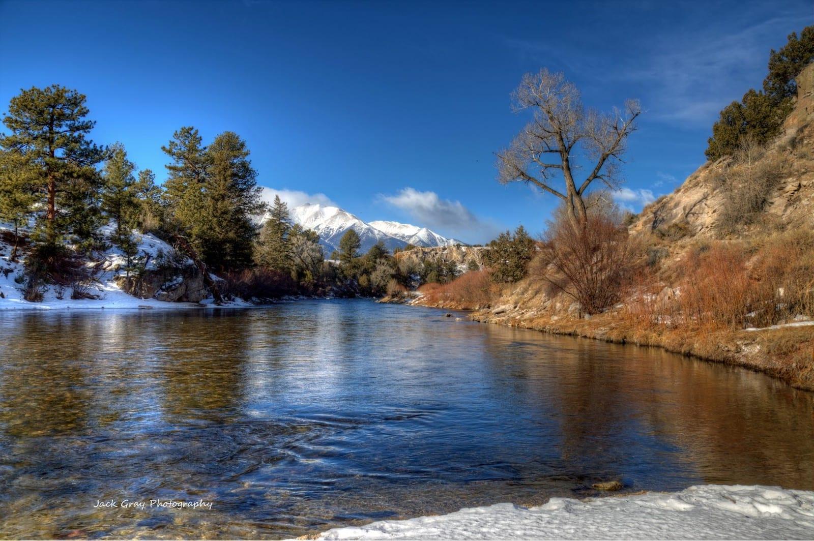 Arkansas River Buena Vista Winter