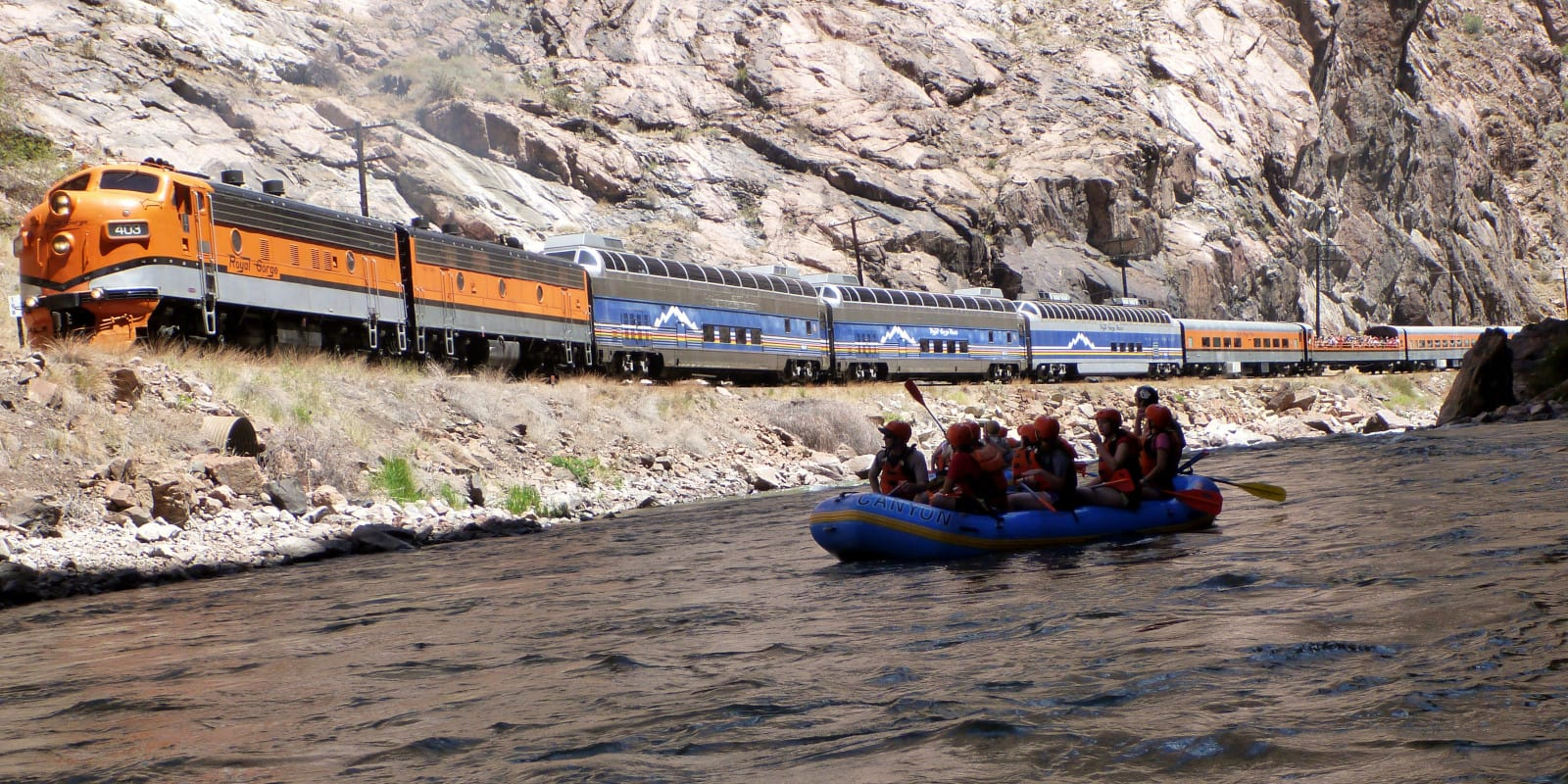 Arkansas River Whitewater Rafting through the Royal Gorge by Train