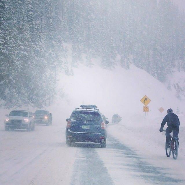 Berthoud Pass CO Winter Biker