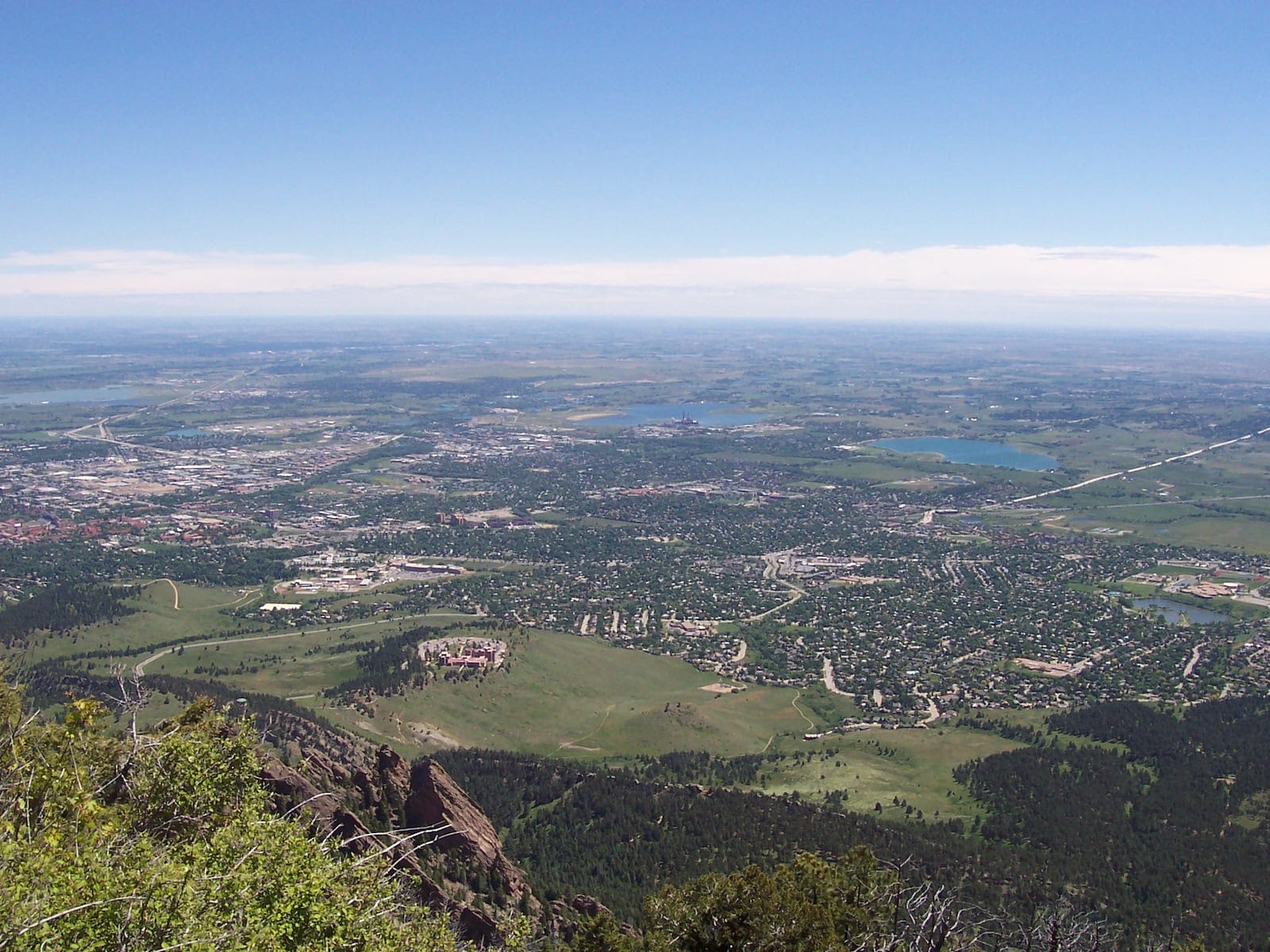 South Boulder CO Aerial View from Bear Peak