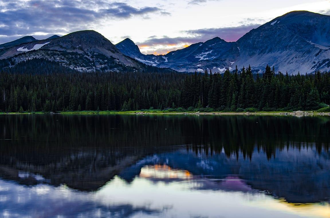 Brainard Lake Sunset Indian Peaks Wilderness