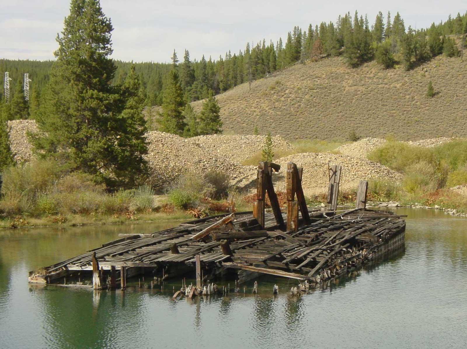 Breckenridge CO Mining History Swan River Gold Dredge Ruins