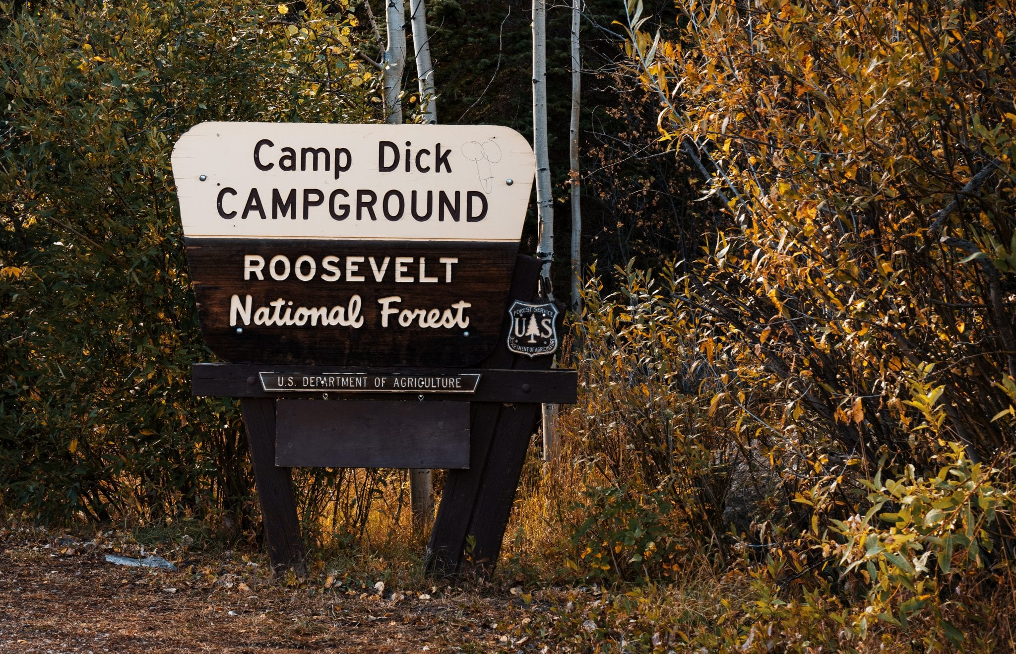 Camp Dick Campground Sign Roosevelt National Forest Colorado