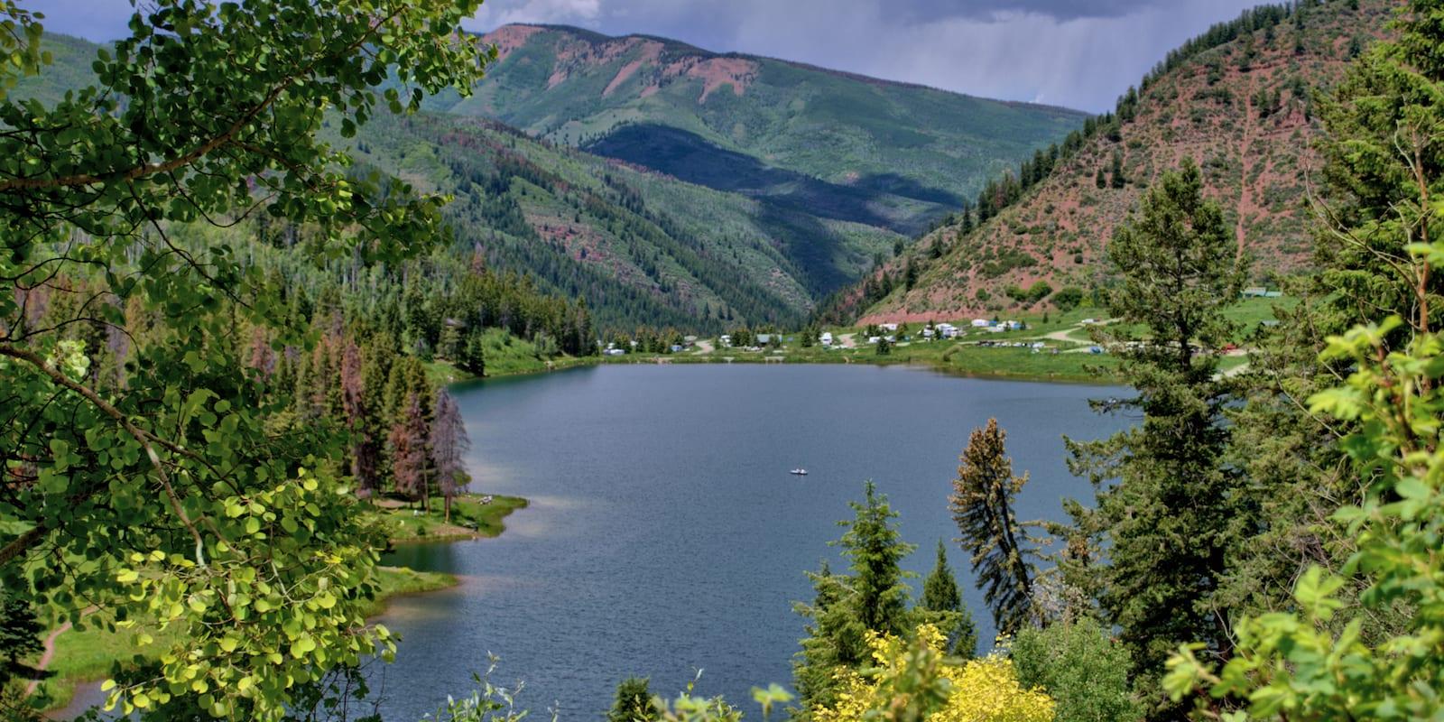 Overlooking Sylvan Lake Camping Eagle CO