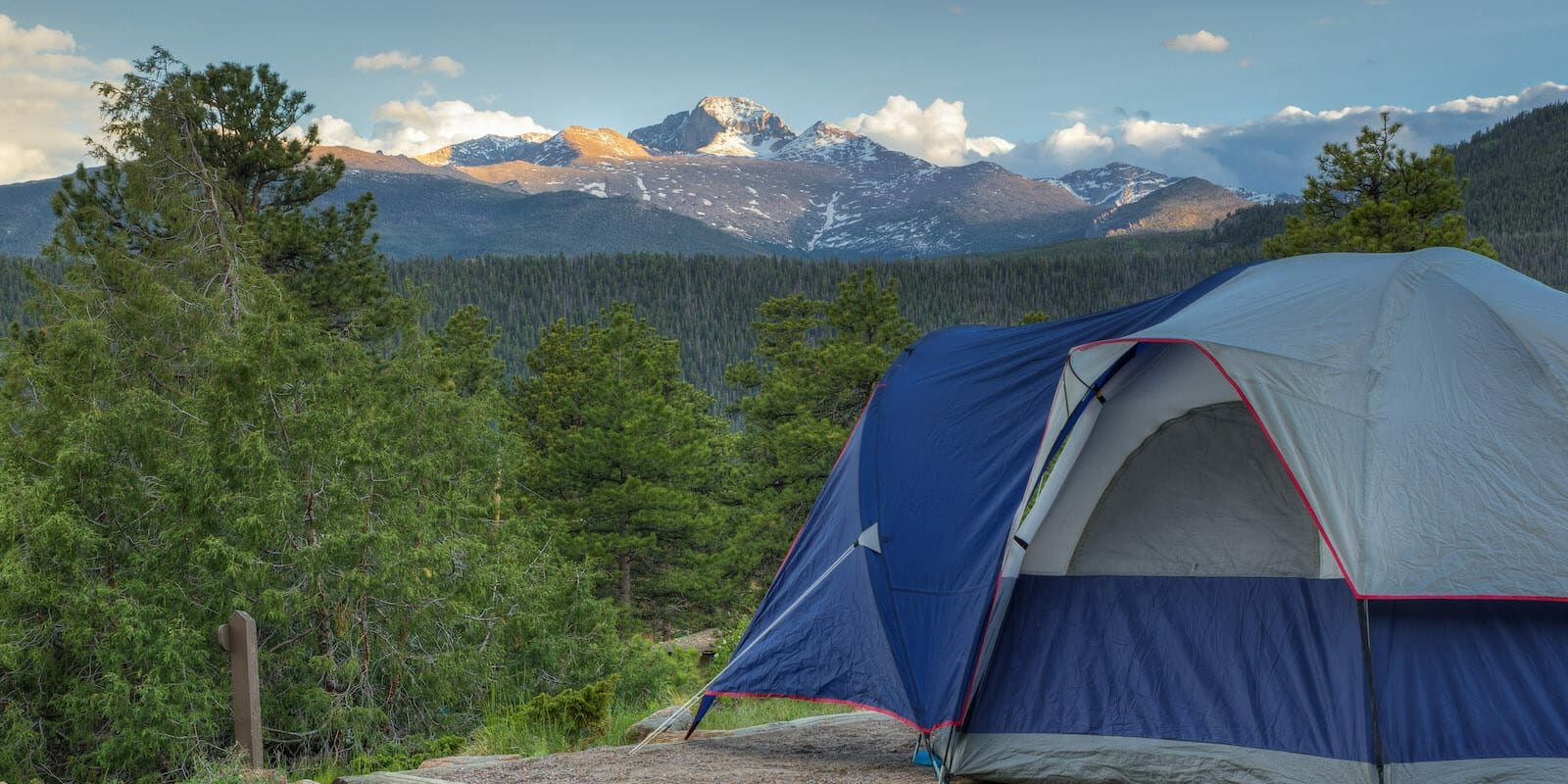 Camping Tent Rocky Mountain National Park Colorado