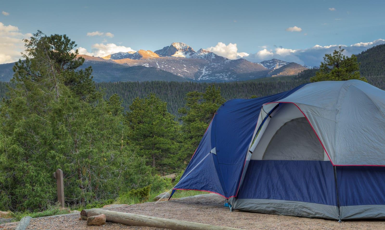 Camping Tent Rocky Mountain National Park Colorado