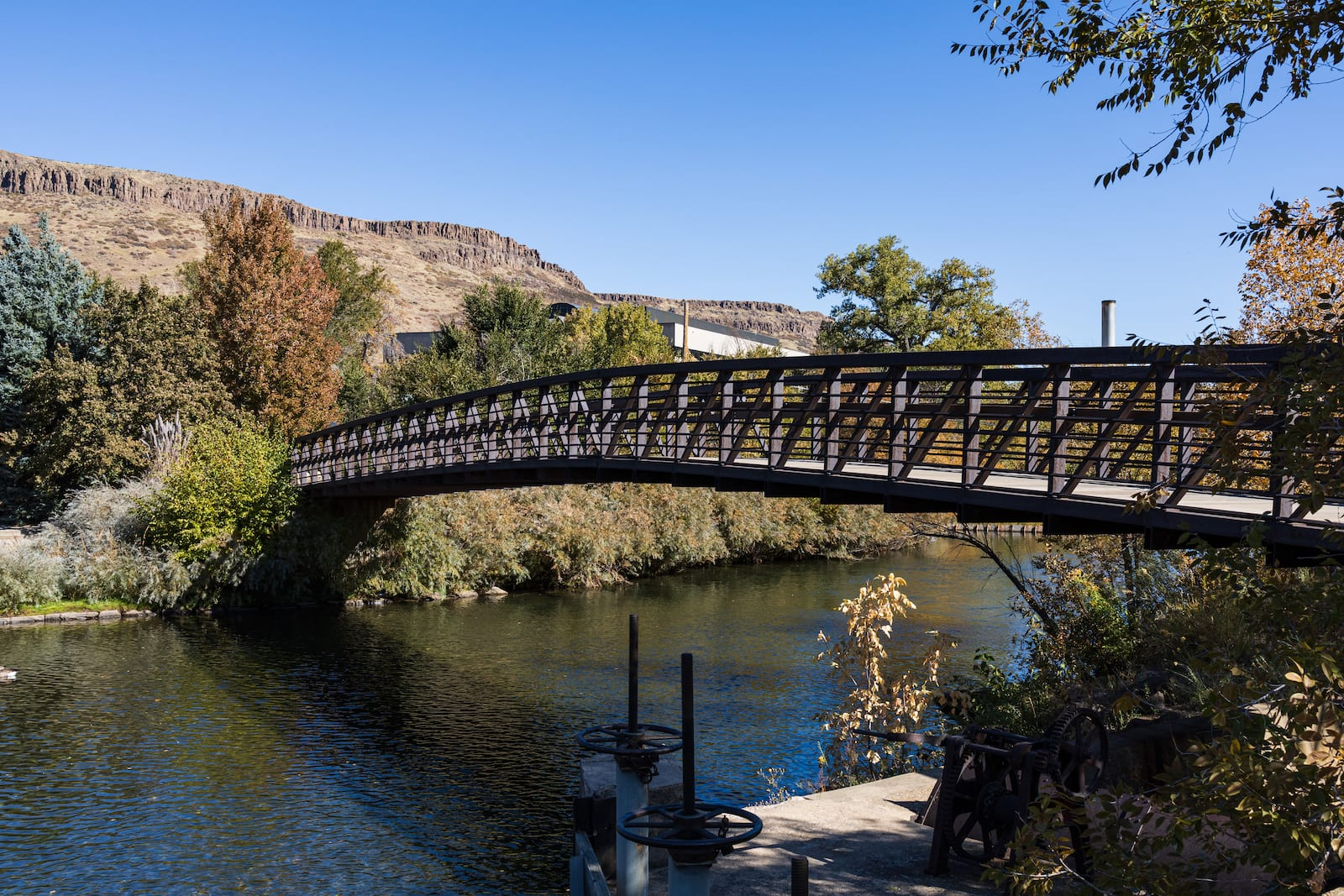 Bridge Over Clear Creek in Golden Colorado