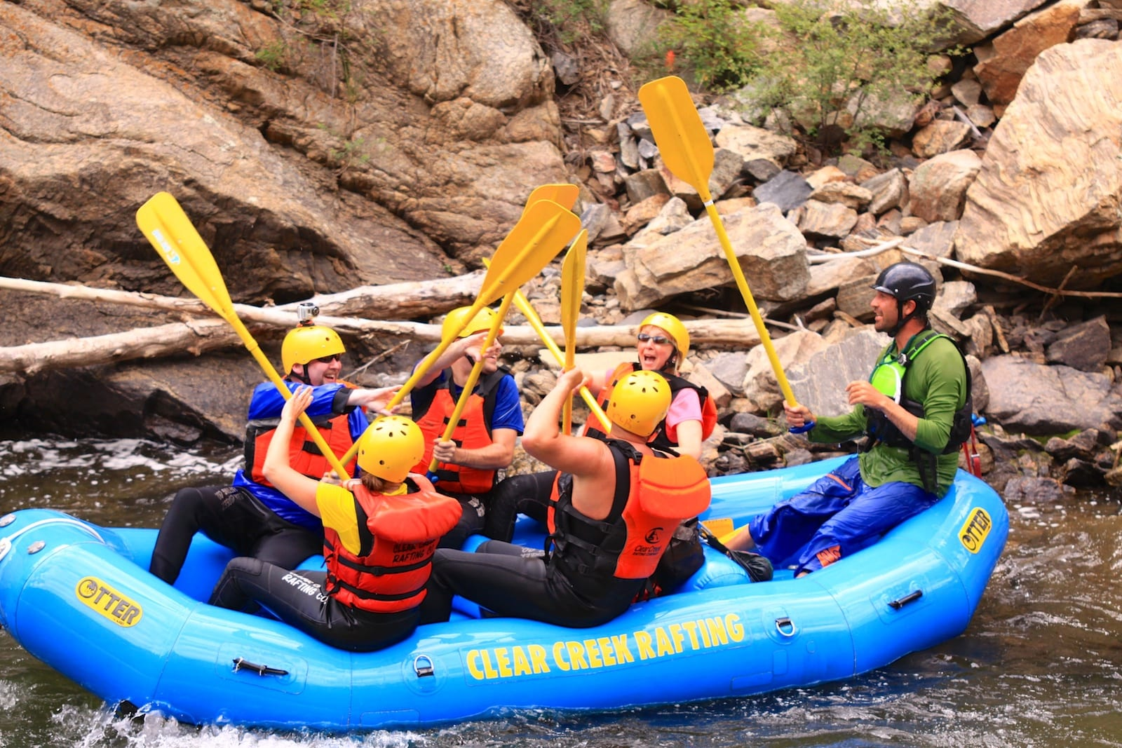Clear Creek Whitewater Rafting Idaho Springs CO Paddles High Five