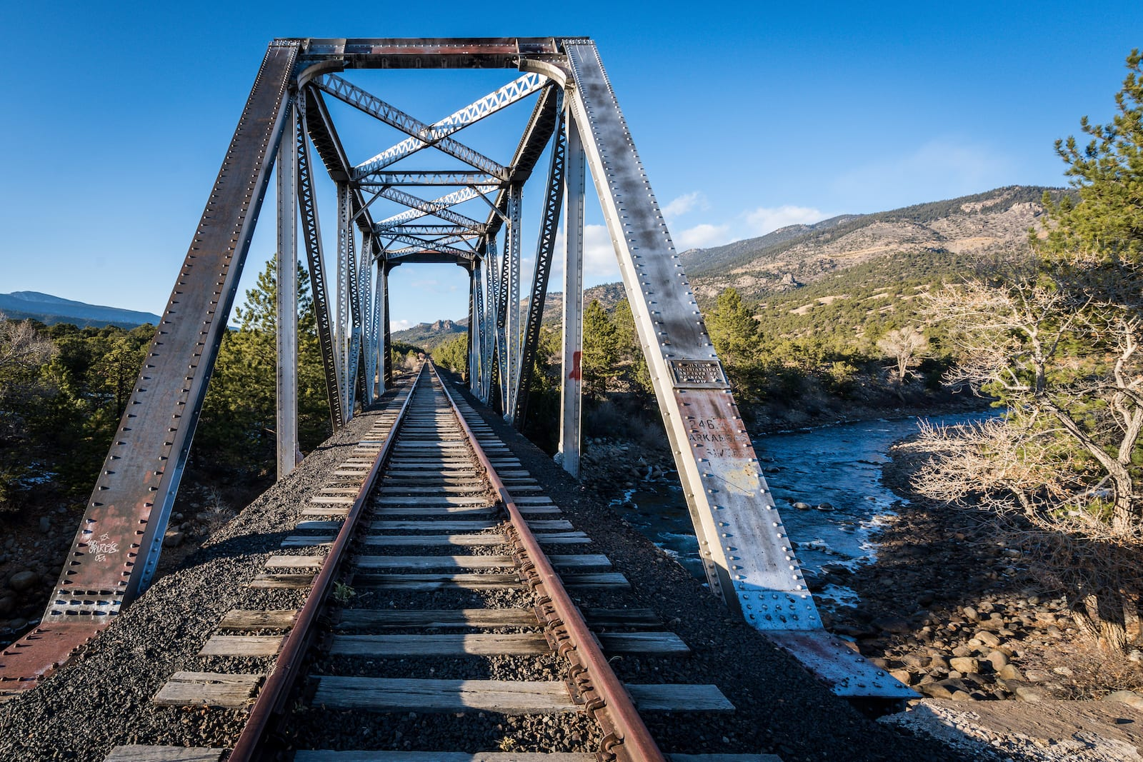 Colorado Railroad Bridge Campsite over Arkansa River Buena Vista