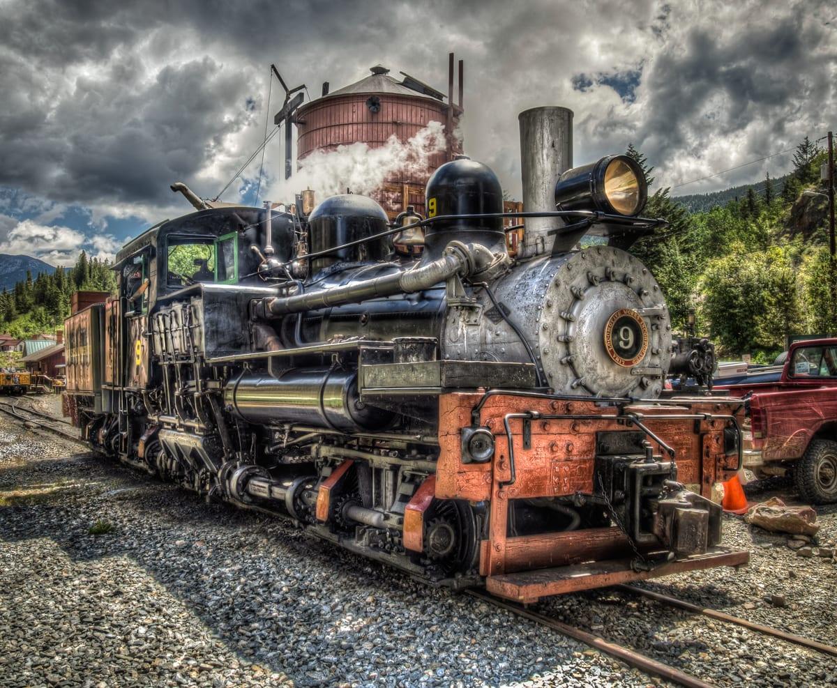 Colorado Georgetown Loop #9 Steam Locomotive