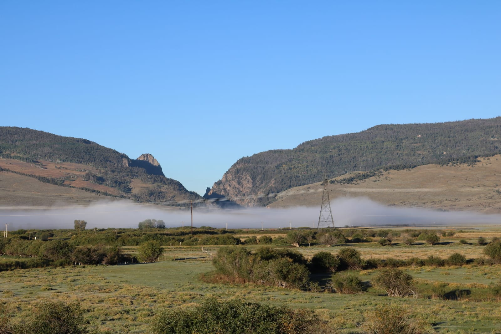 Colorado River Fog near Kremmling CO