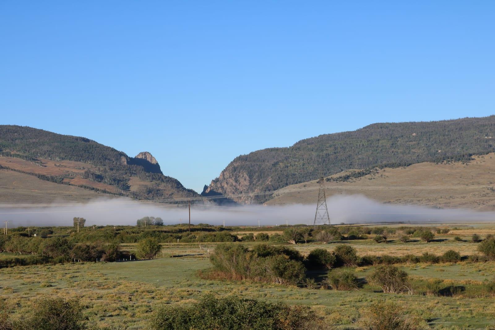 Colorado River Fog near Kremmling CO