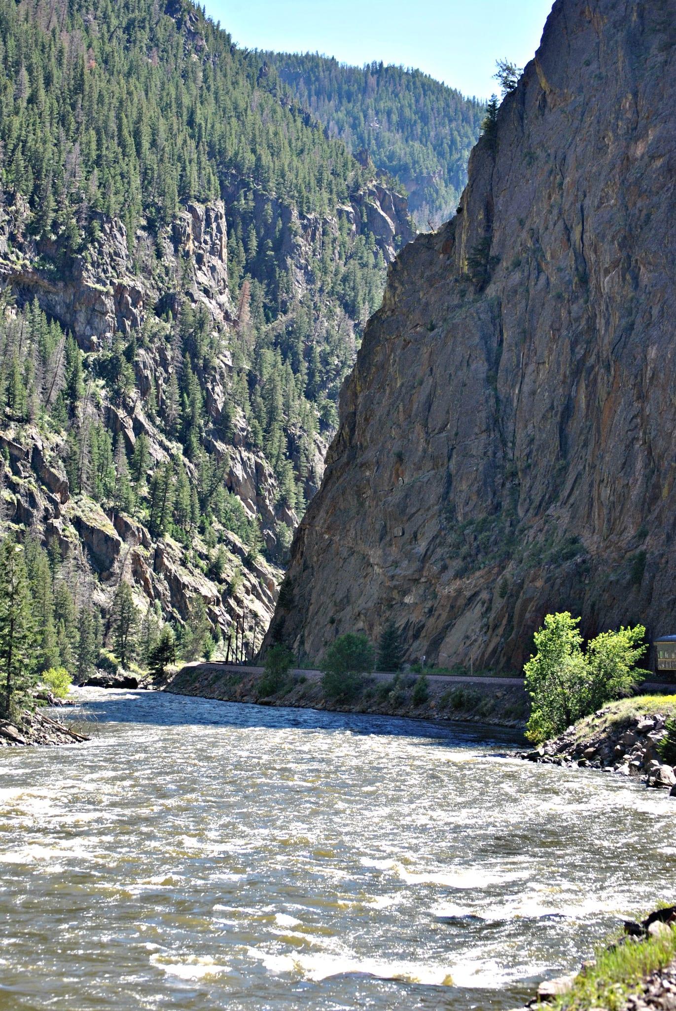 Colorado River Gore Canyon California Zephyr Train