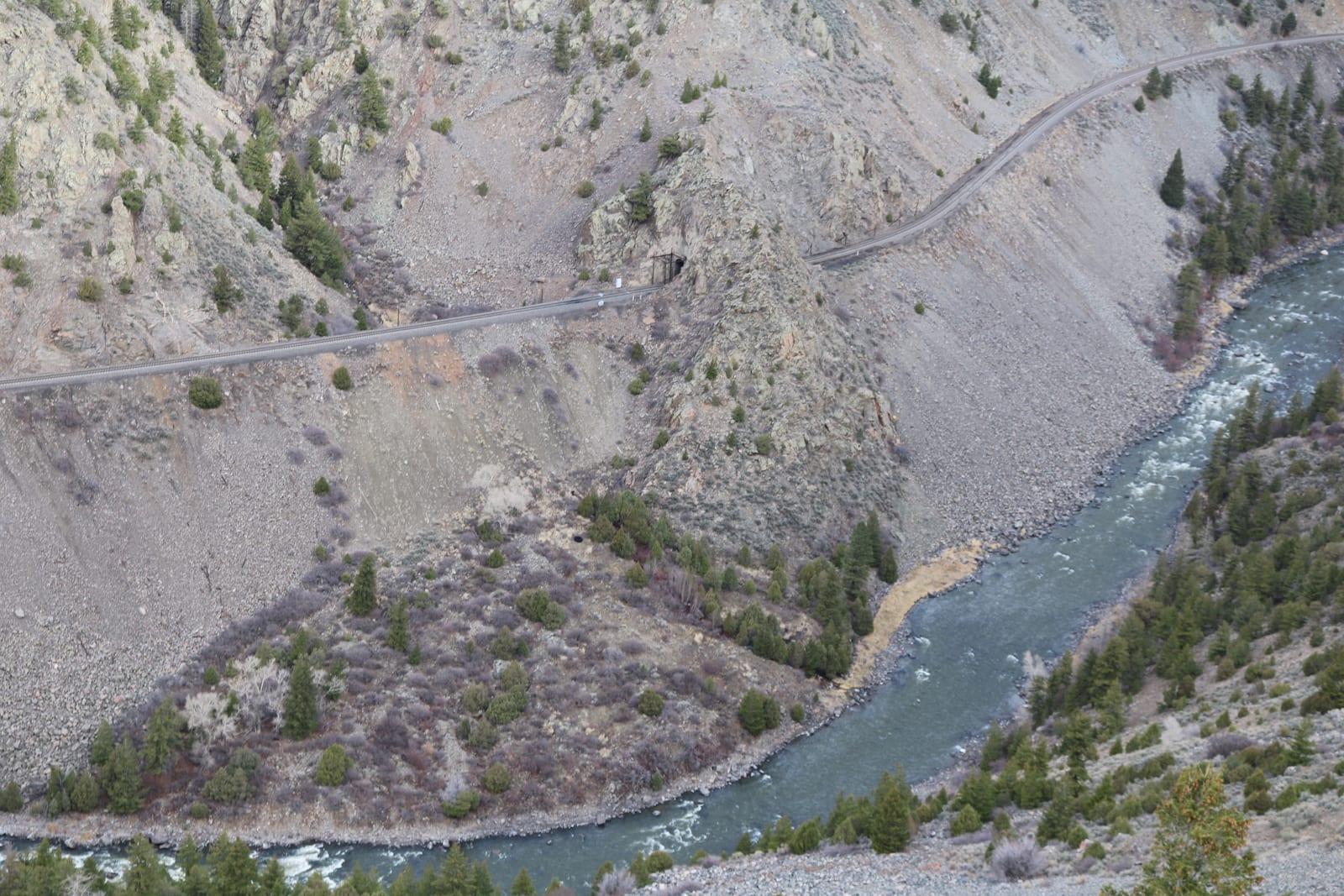 Colorado River and Highway 40 through Gore Canyon Colorado