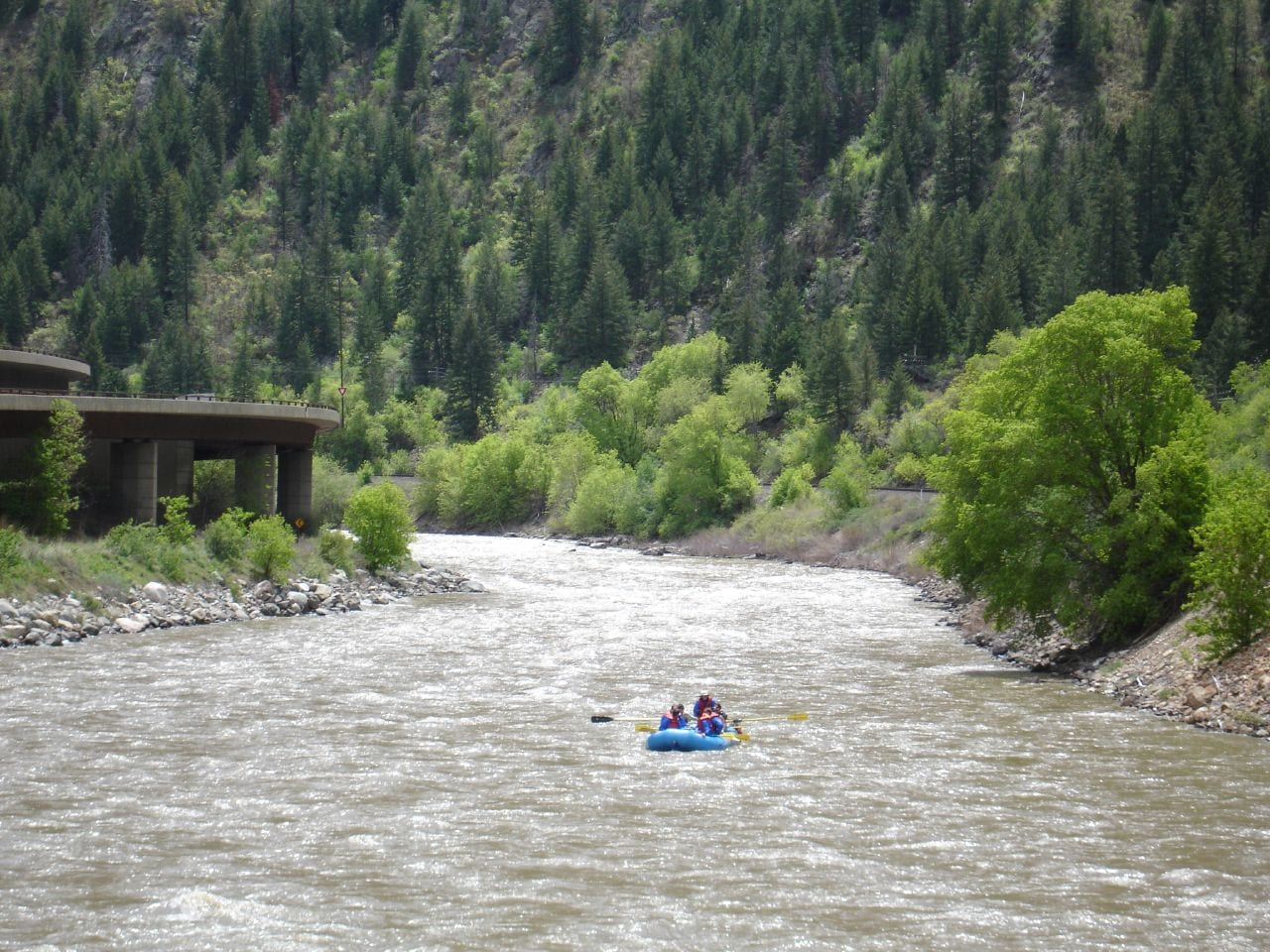 Rafting the Colorado River in Glenwood Canyon Colorado