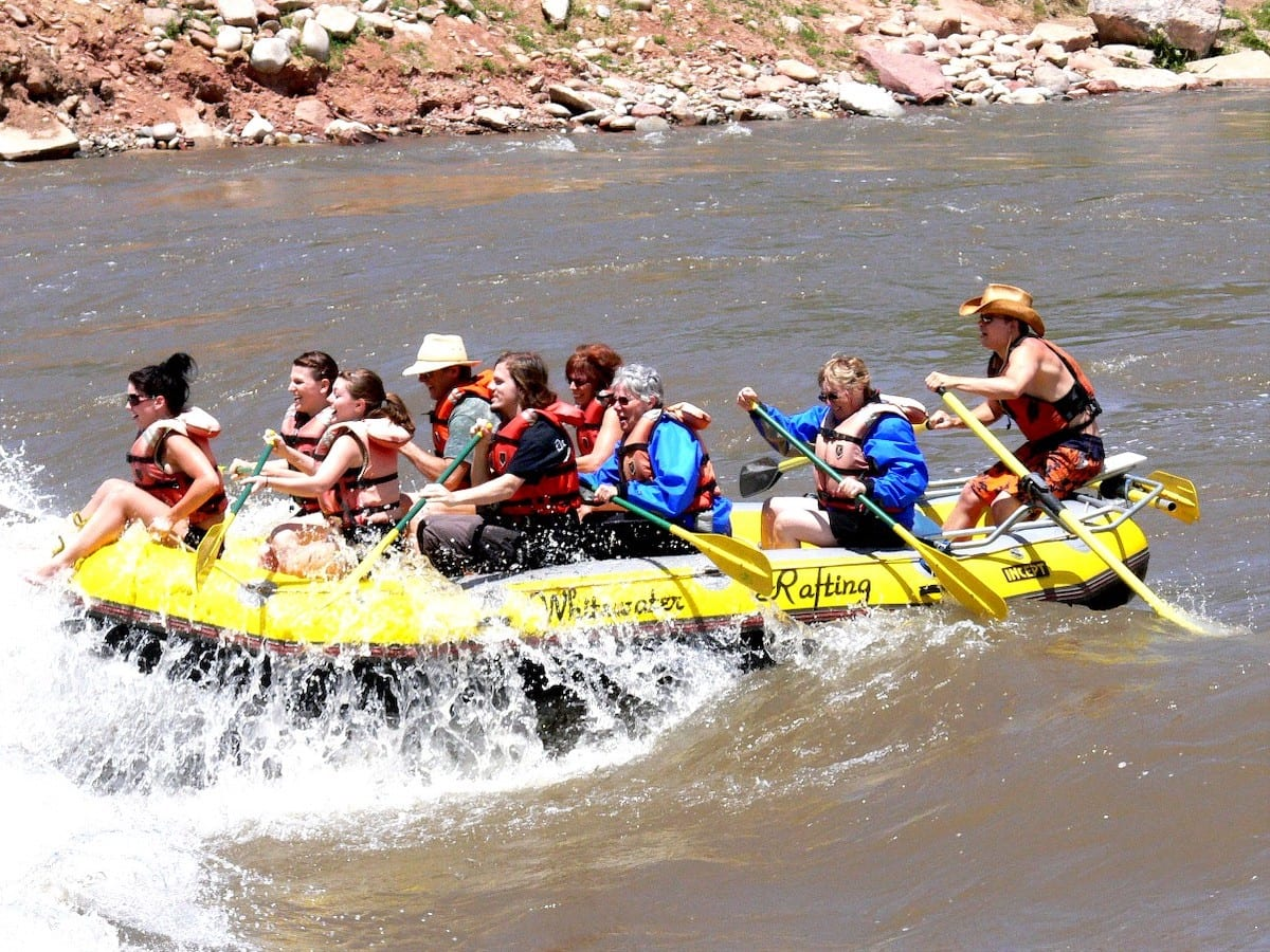 Colorado River Rafting Glenwood Springs Whitewater Park Colorado