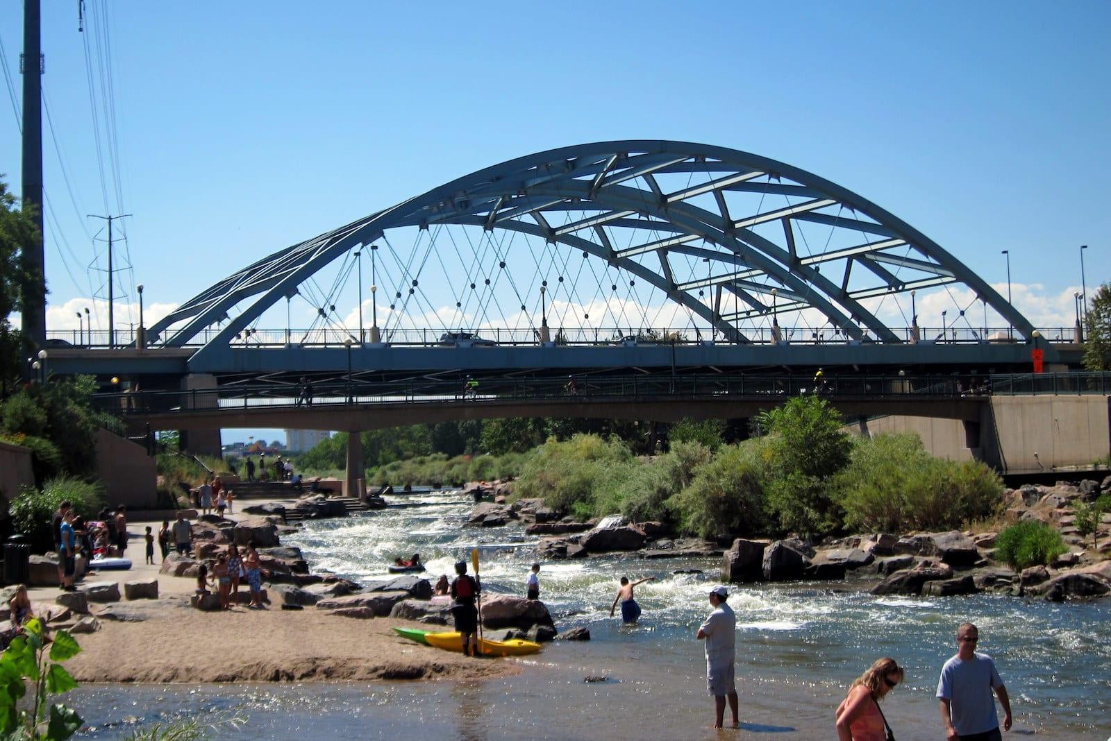 Speer Boulevard Bridge Confluence Park Denver CO