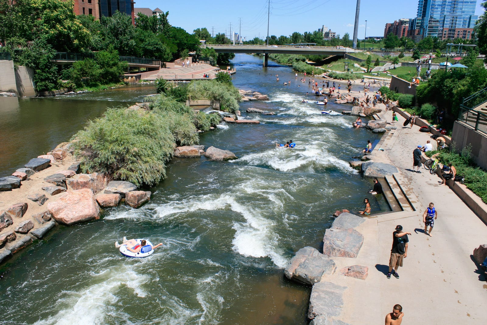 Tubing South Platte River Confluence Park Denver CO