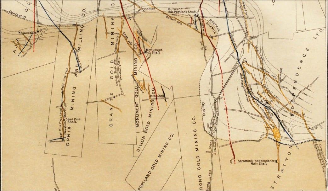Cripple Creek CO Gold Mines Circa 1906