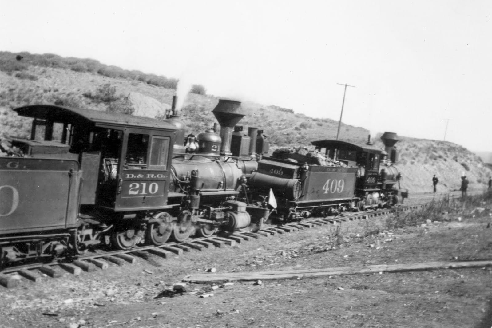 Denver & Rio Grande Narrow Gauge Railroad Circa 1906 Montrose CO