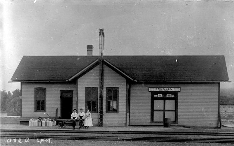 Denver and Rio Grande Railroad Depot Sedalia CO Circa 1890