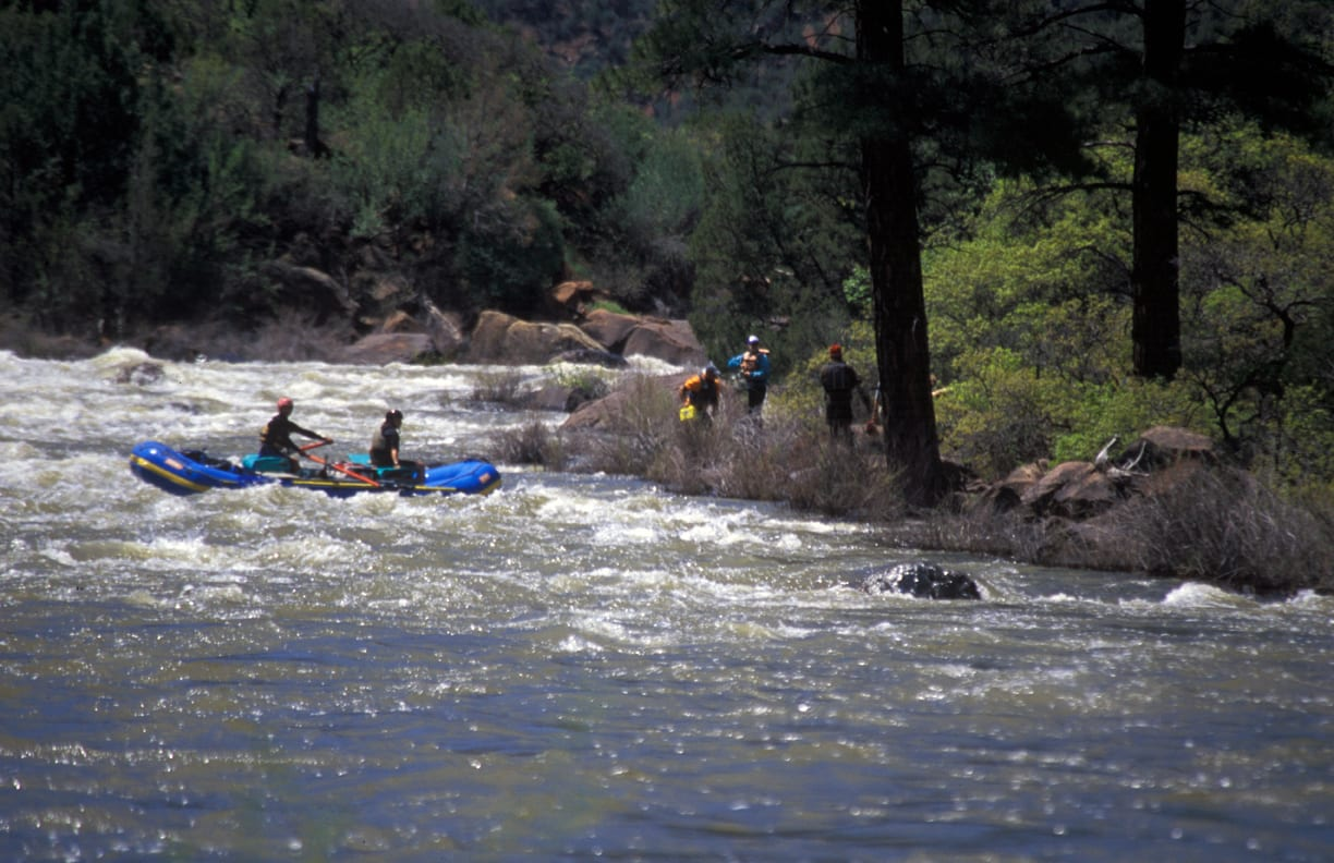 Dolores River Rafting Snaggle Tooth Rapid Colorado