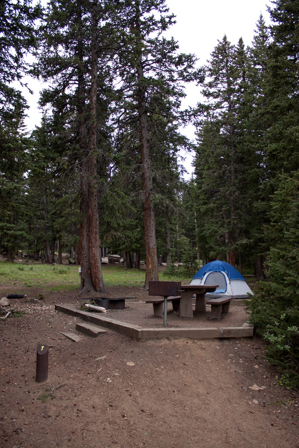 Echo Lake Campground near Mount Evans CO