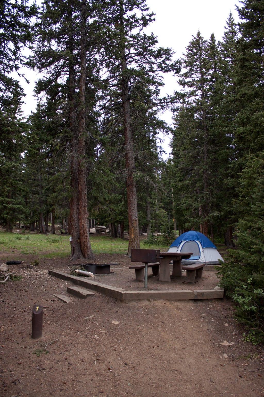 Echo Lake Campground near Mount Evans CO