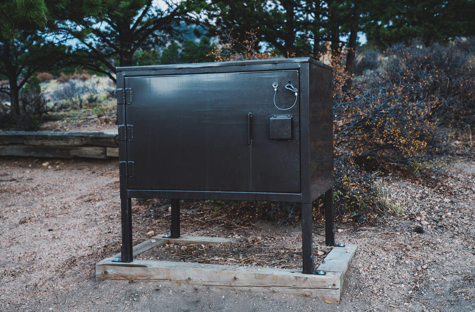 Estes Park Campground at Mary's Lake Bear Storage Box