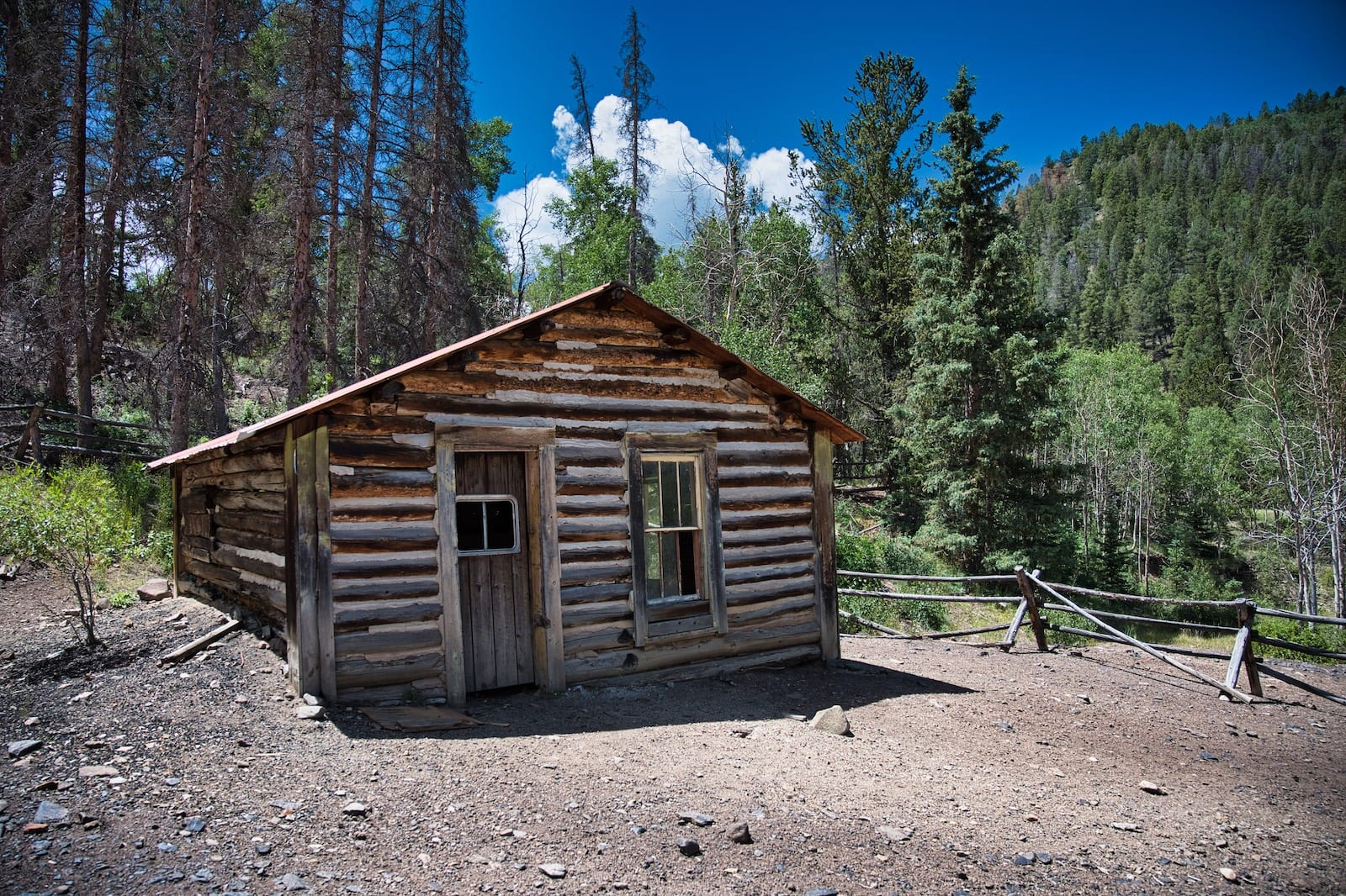 Exchequer CO Ghost Town Old Cabin