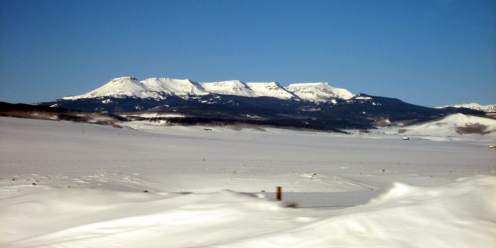 Flat Tops Wilderness Area Winter Snow