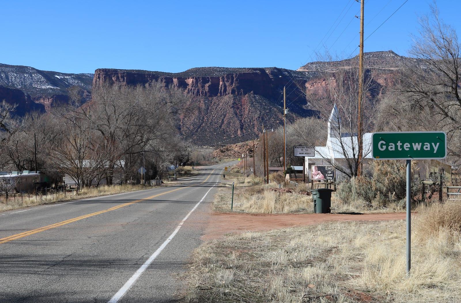 Gateway Colorado State Highway 141