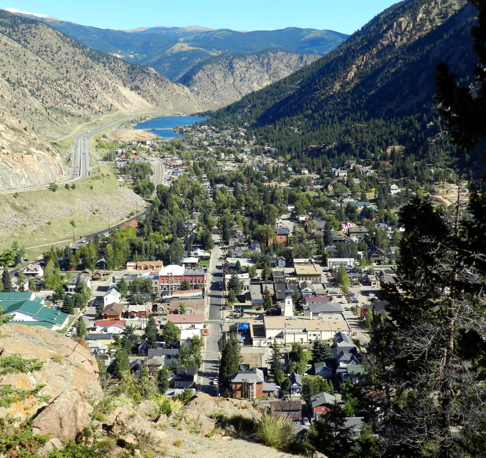 Georgetown CO Aerial View from Guanella Pass