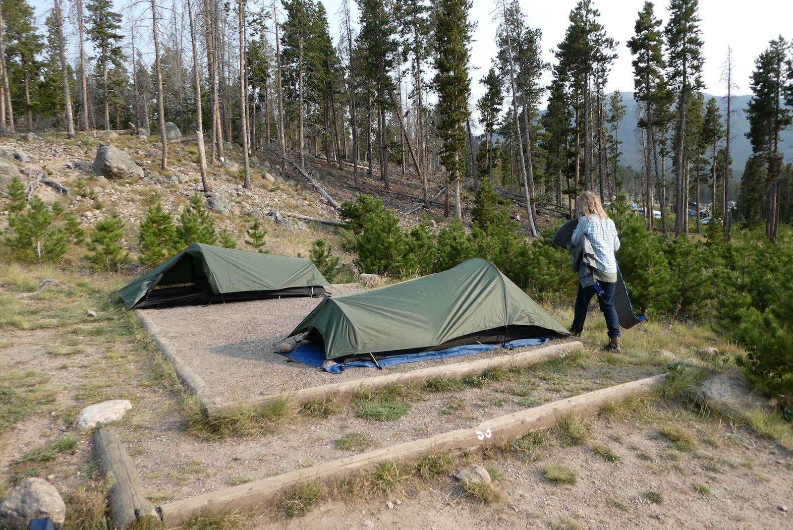 Glacier Basin Campground Rocky Mountain National Park CO Site 53