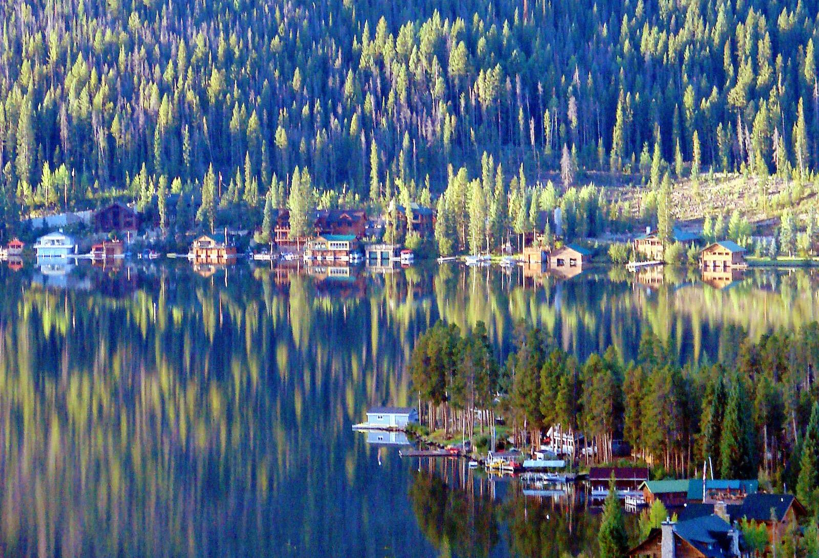 Grand Lake CO Morning Light Reflections on Lake