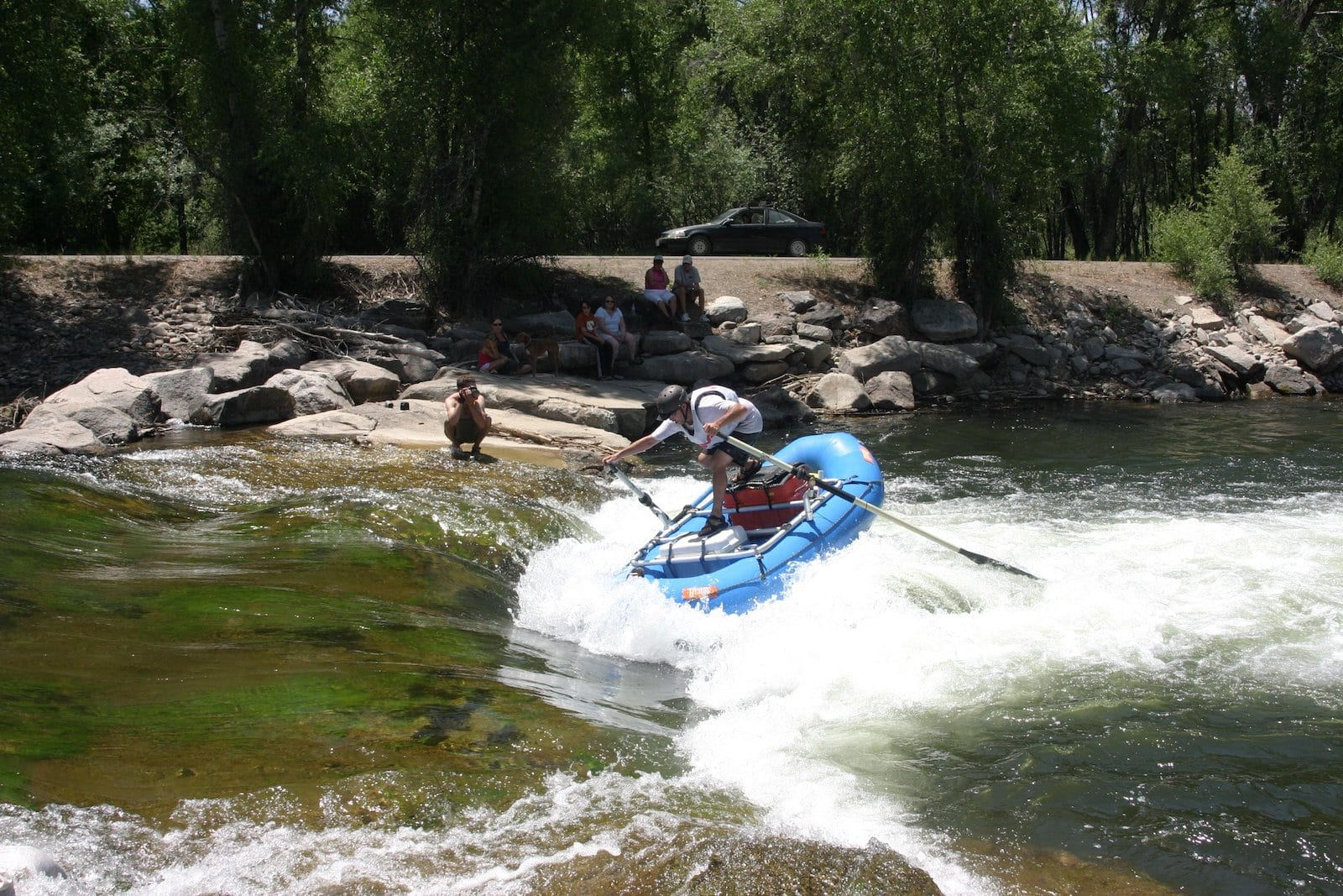 Gunnison River Festival Rafter Whitewater Park Gunnison CO