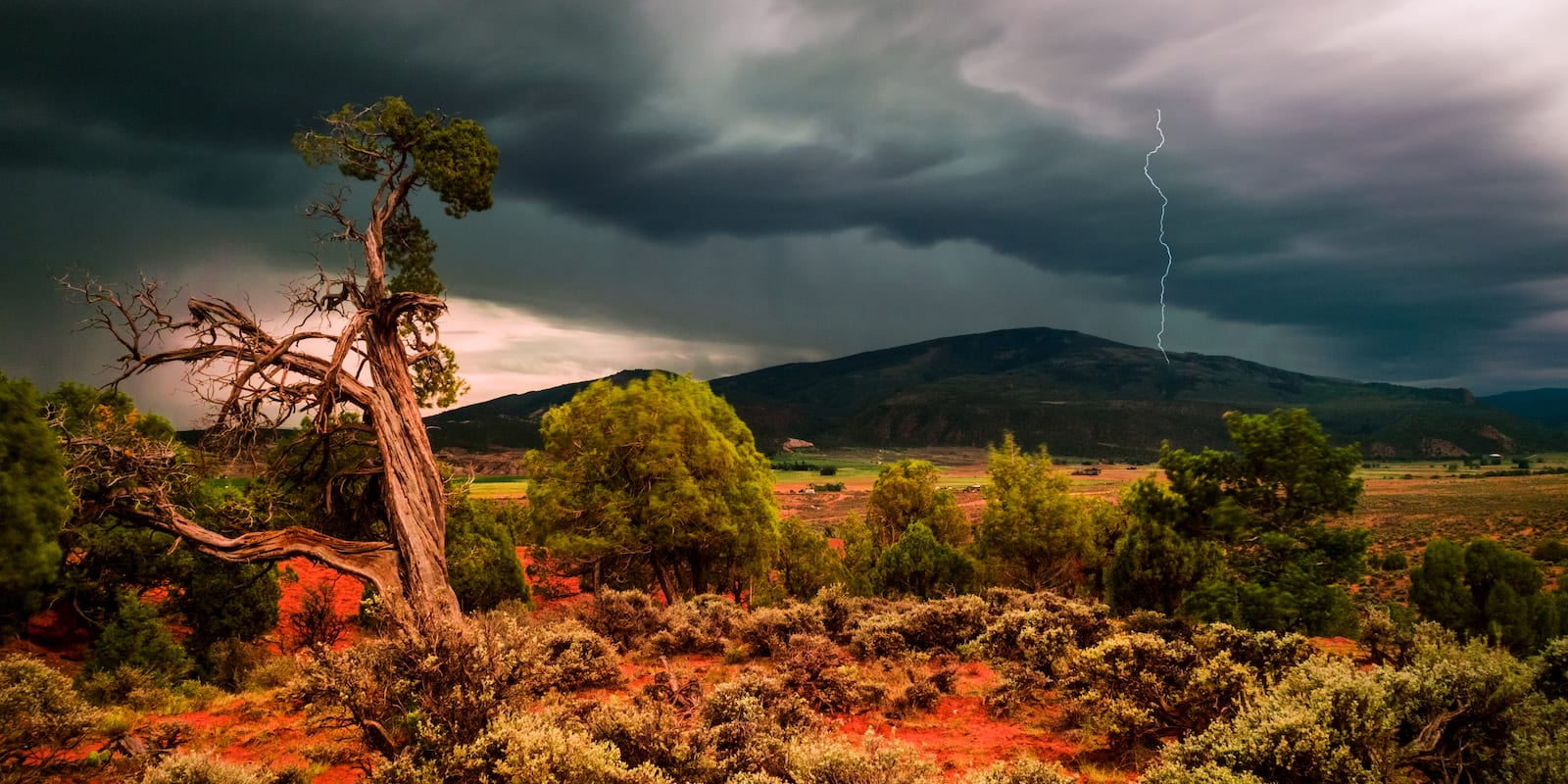 Gypsum CO Summer Lightning Strike on Hardscrabble Mountain