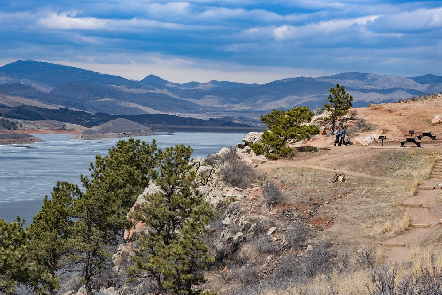 Hiking Trail Overlooking Horsetooth Reservoir in Rotary Park Fort Collins CO