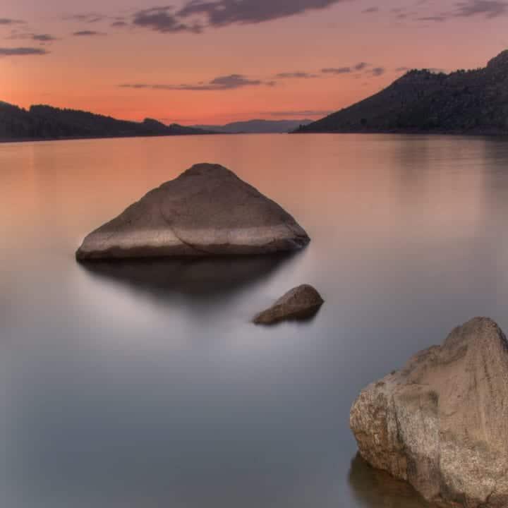 Horsetooth Reservoir Summer Sunset