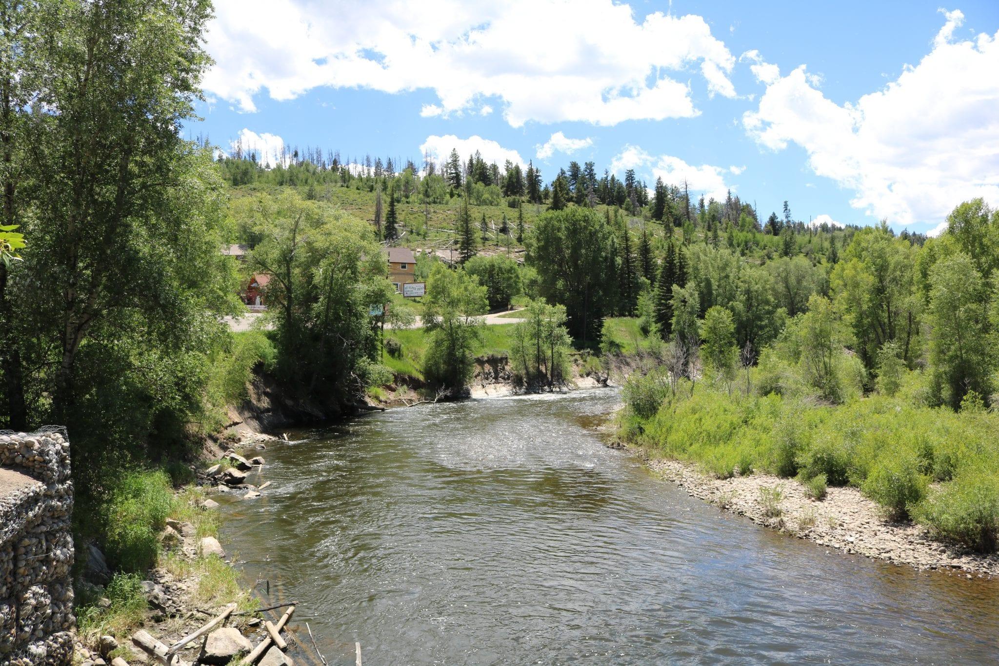 Colorado River Flows through town of Hot Sulphur Springs, CO