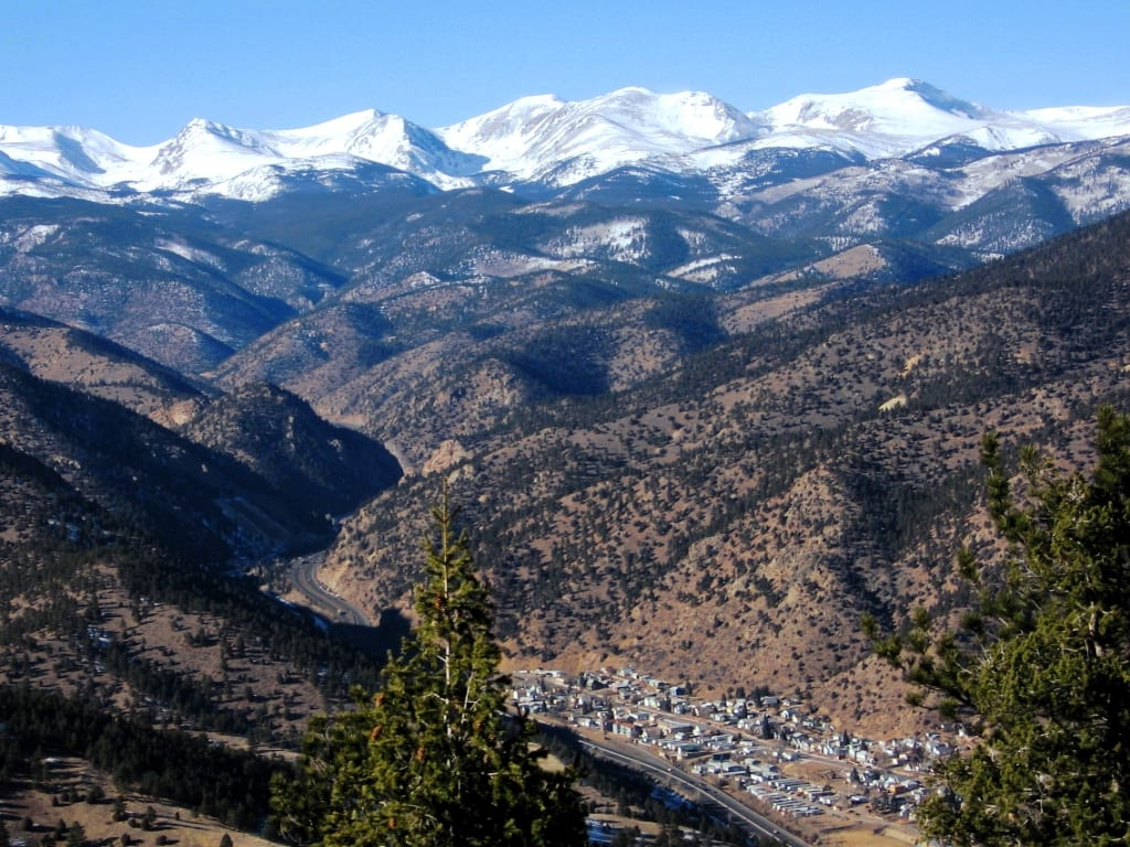 Idaho Springs CO Aerial View