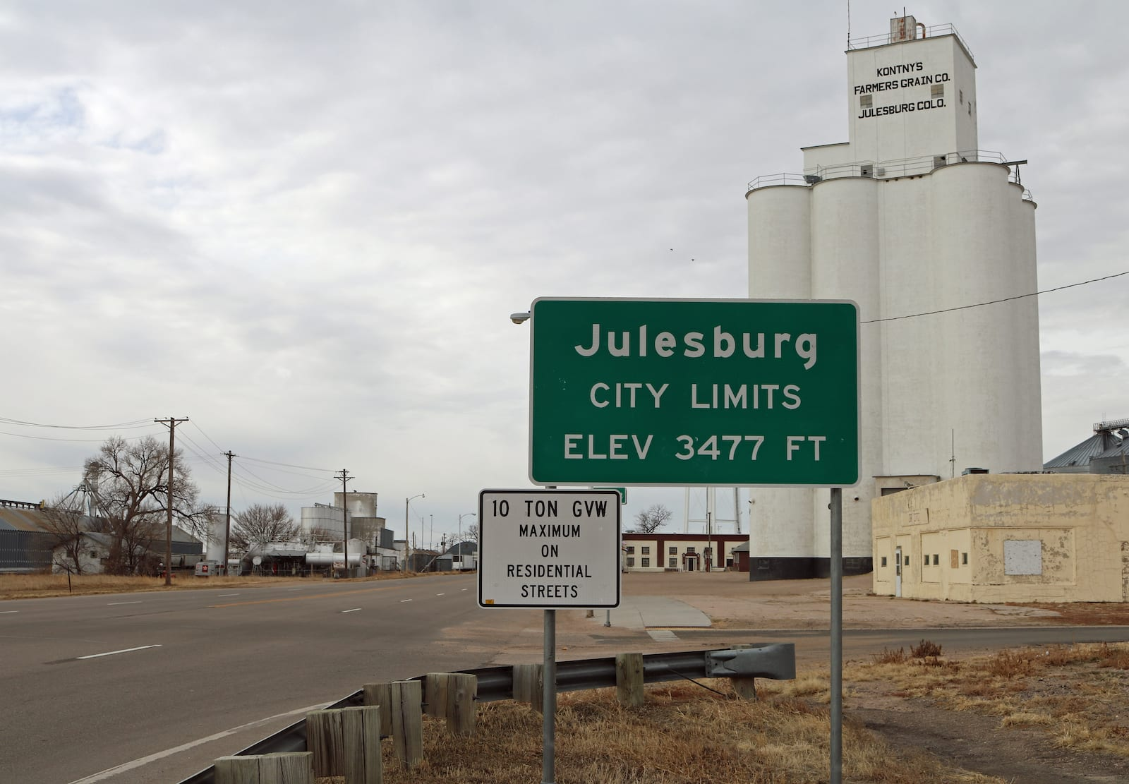 Julesburg CO City Limits Sign