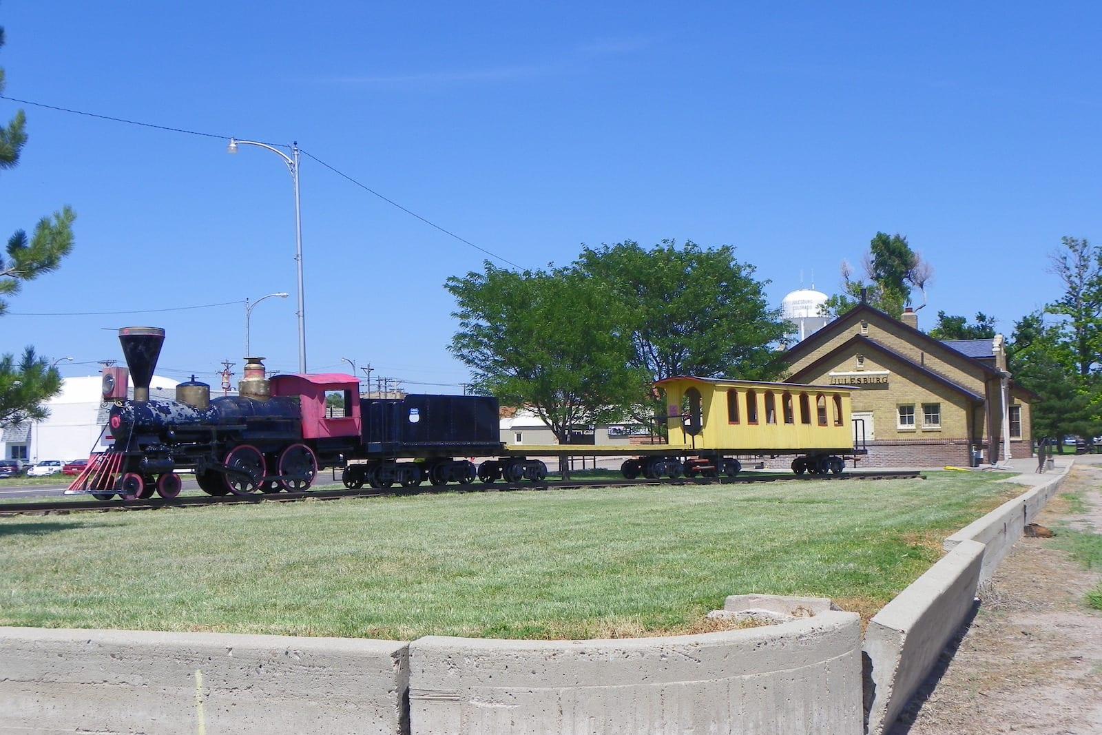 Union Pacific Railroad Depot Julesburg CO Miniature Train