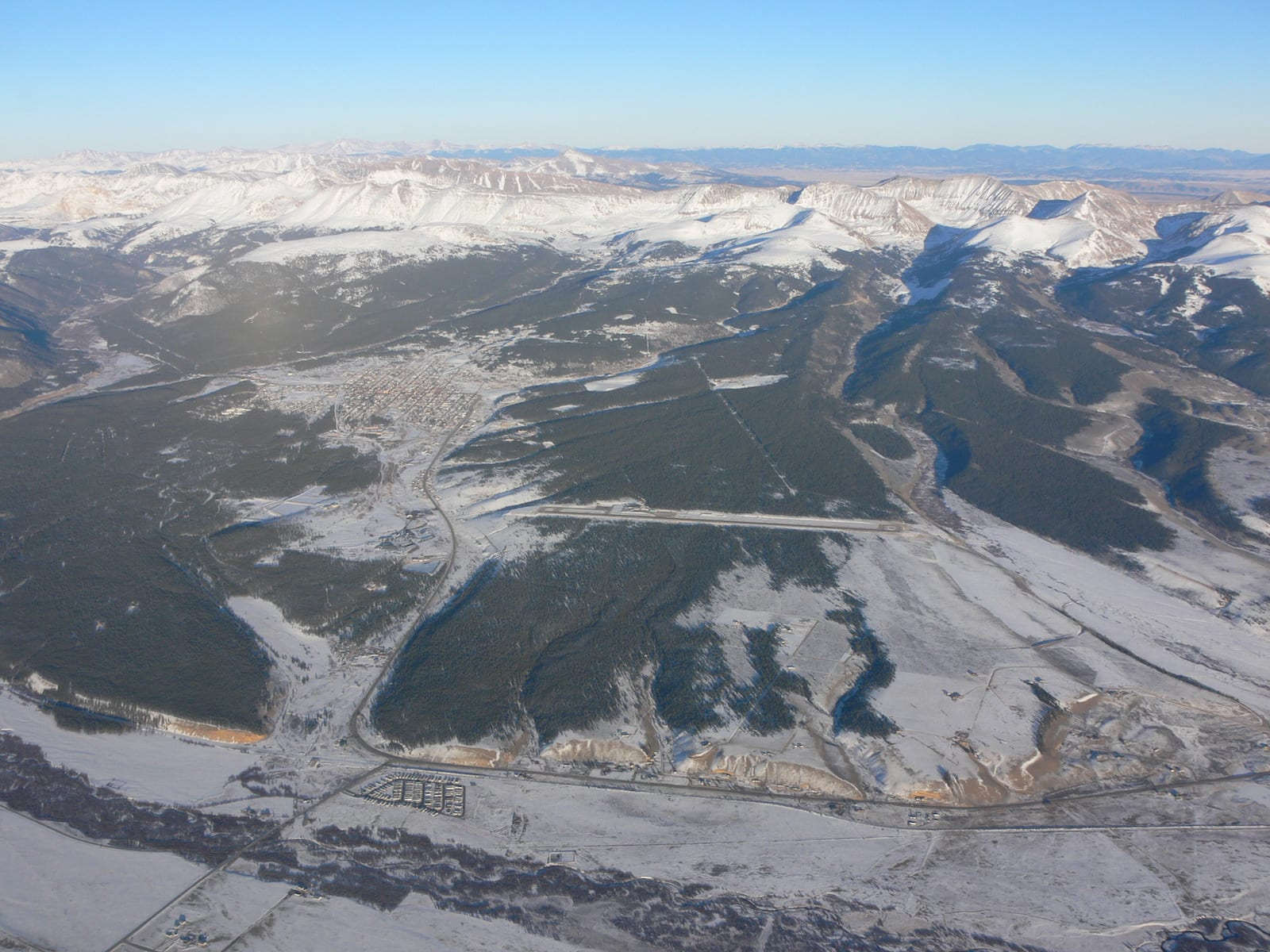 Aerial View of Leadville and Lake County Airport CO