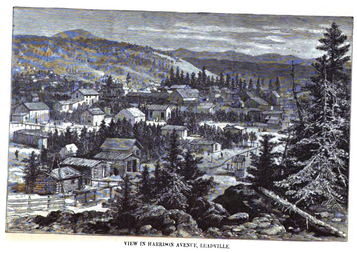 Leadville CO Harrison Avenue Circa 1880