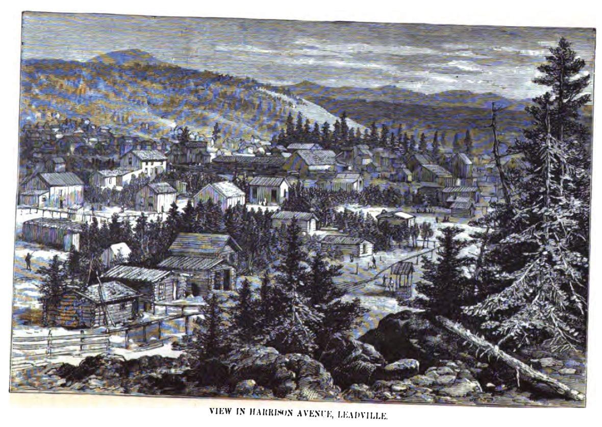 Leadville CO Harrison Avenue Circa 1880