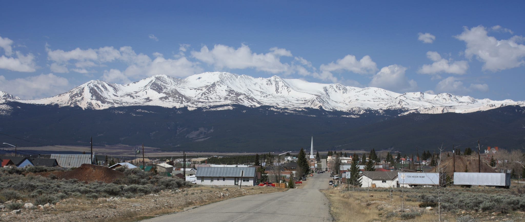 Leadville CO Mountain Massive from 6th Street